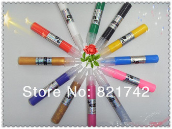 Beauty &Fashion 12pcs/lot UV Gel Acrylic Design DIY 3D Paint Nail Art Pen NailPolish 12 Different Colors Nail Polish