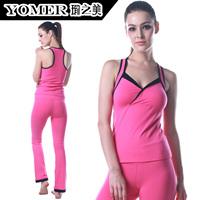 Quality fashion sleeveless yoga clothes yoga clothing set f0422 p0510