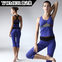 Yoga clothes summer spaghetti strap sleeveless x f0407 p0607 belt