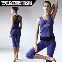 Yoga clothes summer spaghetti strap sleeveless x f0407 p0607 belt