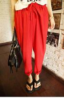 Fashion spring plus size drawstring involucres loose harem pants casual trousers suit pants taper pants female