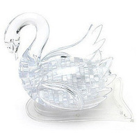 Three-dimensional crystal puzzle 3ddiy blocks puzzle crystal building blocks white swan puzzle