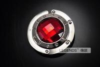 Red gem diamond folding bag ruby bag circle belt a0402