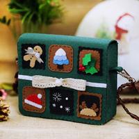 Material kit diy handmade cloth art stamps messenger bag coin purse