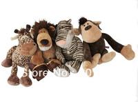 4pcs/lot  Stuffed Animal Plush toy  NICI wholesale lion tiger deer monkey brothers toys wholesale jungle 35 cm
