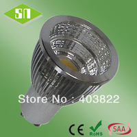 Free shipping SAA CE RoHS cool white white dimmable cob 6w gu10 led spot light