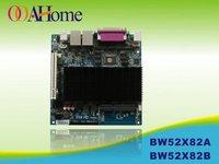 OO Ahome ITX BW52X82B Intel Atom D525 1.8G dual core,Fanless,VGA+18Bit LVDS,12V DC,8COM,2Giga LAN,Mini ITX Motherboard,POS,PC