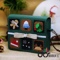 Gift spring material kit diy handmade cloth art stamps messenger bag coin purse
