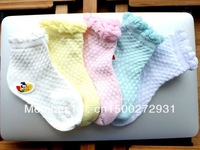 Free Shipping] 10pais/lot summer new style 100%Thin cotton mesh baby sock , cotton sock , infant sock,girl