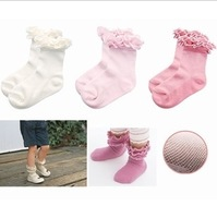 10pairs/lot free shipping cotton infant socks, girl socks, kids footwear lace ballet socks baby mesh princess socks  V130 10pair