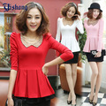 Fashion spring beading shirt slim short design one-piece dress top the bride married