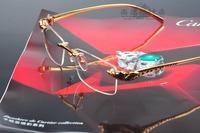Car fashion rimless glasses leopard head optical frame commercial luxury eyeglasses frame myopia