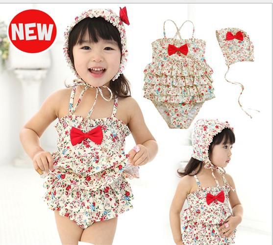 Lenceria Flores Trajes De Baño: de las piezas de trajes de baño traje de baño de los niños con