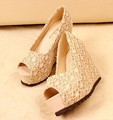 Free shipping 2013 burst spring shoes new han edition high heavy cork-soled platform with the fish mouth shoes sandals