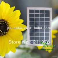 Free Shipping--Small size solar panel 5W 9V for 6V charger battery PV module in stock