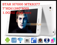 "HK post drop shipping 7""HD(1280*800) STAR H7000 MTK8377 1.0GHZ dual core android 4.0 phone MID GPS GAMPLAYER VIDEO AII IN ONE"