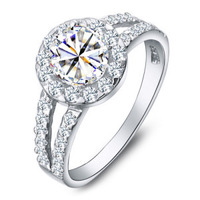High quality !! Queen ring  Real 925 sterling silver  high-grade super flash Wedding ring for women