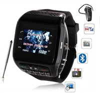 Q6 Watch phone 1.3 inch Touch Screen Single SIM with Bluetooth Watch cellphone FM MP3/MP4 1.3MP Cemera Wirst Watch Mobilephone