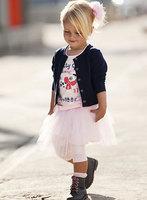 2013new fashion female child infant outerwear t-shirt skirt triangle set long-sleeve set  girls sweater tutu dress suit 3pcs/set