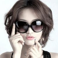 2013 all-match vintage women's big box sun glasses sunglasses sun-shading mirror women's sunglasses
