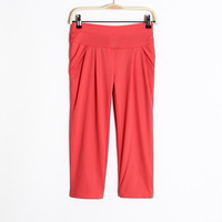 2013 women's slim candy color casual pants harem pants capris -Free Shipping