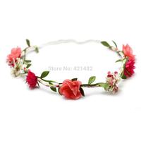 Banquet summoning the bride hair accessory halo flower wreath hair bands hair band tousheng