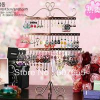 Elegant 54 hole earrings display stand/earring rack/jewelry holder earrings frame free shipping