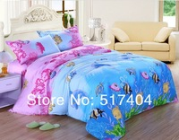 Discount ocean dolphin comforter set,4pc children bedding sets, queen/full size, EMS Free Shipping