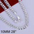 N133-28 Promotion! free shipping wholesale 925 silver necklace, 925 silver fashion jewelry 10mm Shrimp Lock Necklace-28 N1