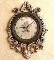 American rustic fashion vintage wall clock wall clock quieten 23 full