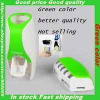 Green color 3M sticker ABS Material God quality Automatic squeezer for toothpaste with Toothbrush Rack box UH008