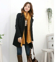 2 Colors Winter Autumn  Warm Double-Breasted Slim Trench Coat Jacket 36383