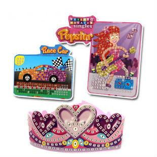 free shipping,Canada digital puzzle, 27 kind mosaic DIY race car popstar tiara fish dog cat puzzles toys(China (Mainland))