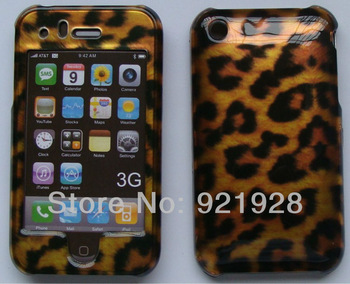 NEW Top Quality cool Leopard Style Hard  Plastic shell Case Cover Skin for iphone 3 3G 3GS  Free Shipping
