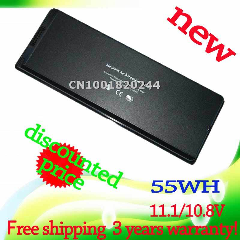 10.8V/11.1V 55Wh Laptop battery for APPLE MacBook 13&quot; A1181 NEW A1185 13&quot; MA254 notebook black MA566FE/A MA566G/A MA566J/A(China (Mainland))