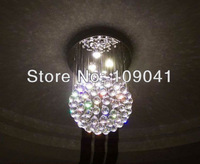 hot sell dia40cm Modern Spherical LED crystal chandelier 3 lights