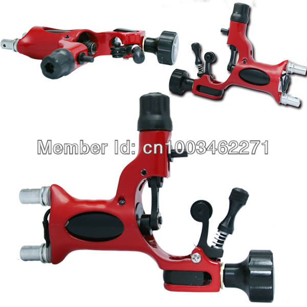 Fashion Red Dragonfly Rotary Tattoo Machine Gun Tattoo Kits Supply High Quality For Shader &amp;amp; Liner(China (Mainland))