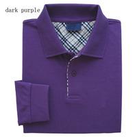 Free shipping men casual turn down collar brand t-shirt new designer spring long sleeve leisure plus size shirt MT1608