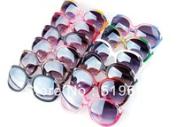2013 New Womens Sunglasses Desiger Ladies Sun Glasses Big Frame UV400 Mix 12 Colors 60pcs Lot Free Shipment