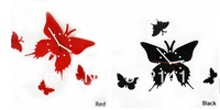 Free Shipping New Home Decor Art Design Modern Style Time Butterfly Wall Clock 2Colors