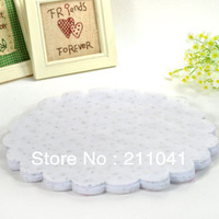 "Wholesale tulle circle bags with glittle diameter 91/2"" 200 pcs/lot White color"