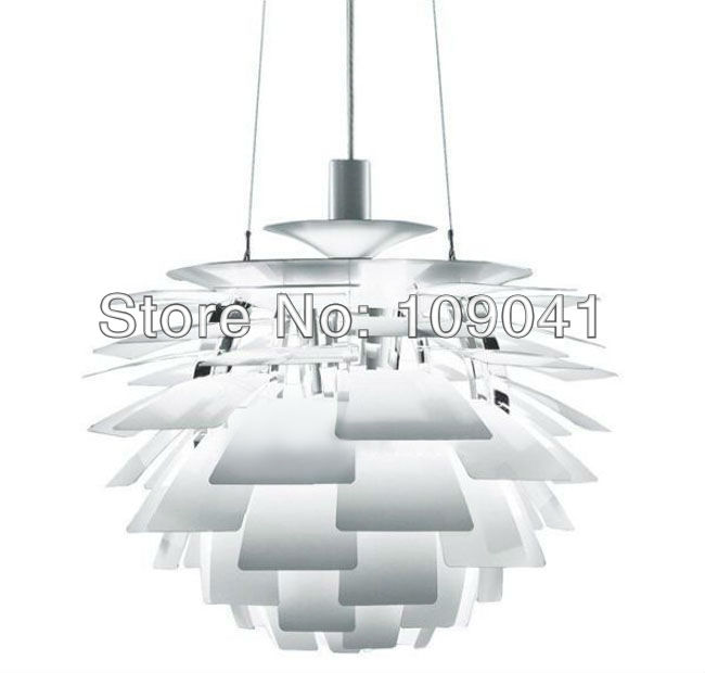 Poul Henningsen PH Artichoke chandelier white dia 50cm +free shipping(China (Mainland))