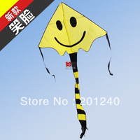 Free shipping smile face kite New arrive outdoor gift kite+ free flying line+handle