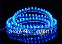 Free Shipping Blue Flexible Waterproof 24 LED bulb 24cm Car light strip
