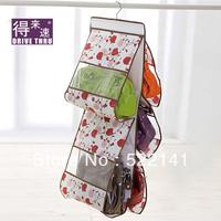 Double faced 3256 plus size transparent window bags storage bag rose