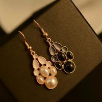 E204 earring vintage all-match bohemia beaded tassel drop earring female earrings