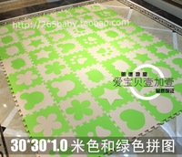 Free shipping Eco-friendly middlebury puzzle mats child mats baby crawling mat beige lawngreenlawngreen