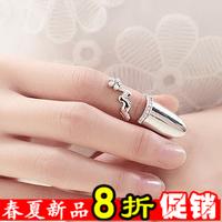 E198 accessories female vintage punk fashion false nail sets ring finger ring