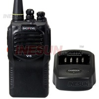 Portable Walkie Talkie/Two-Way Radio/Transceiver with FM radio, Receiving alarm call
