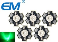50PCS 3W Green High Power LED Light Emitter 510-530NM with 20mm Star Heatsink